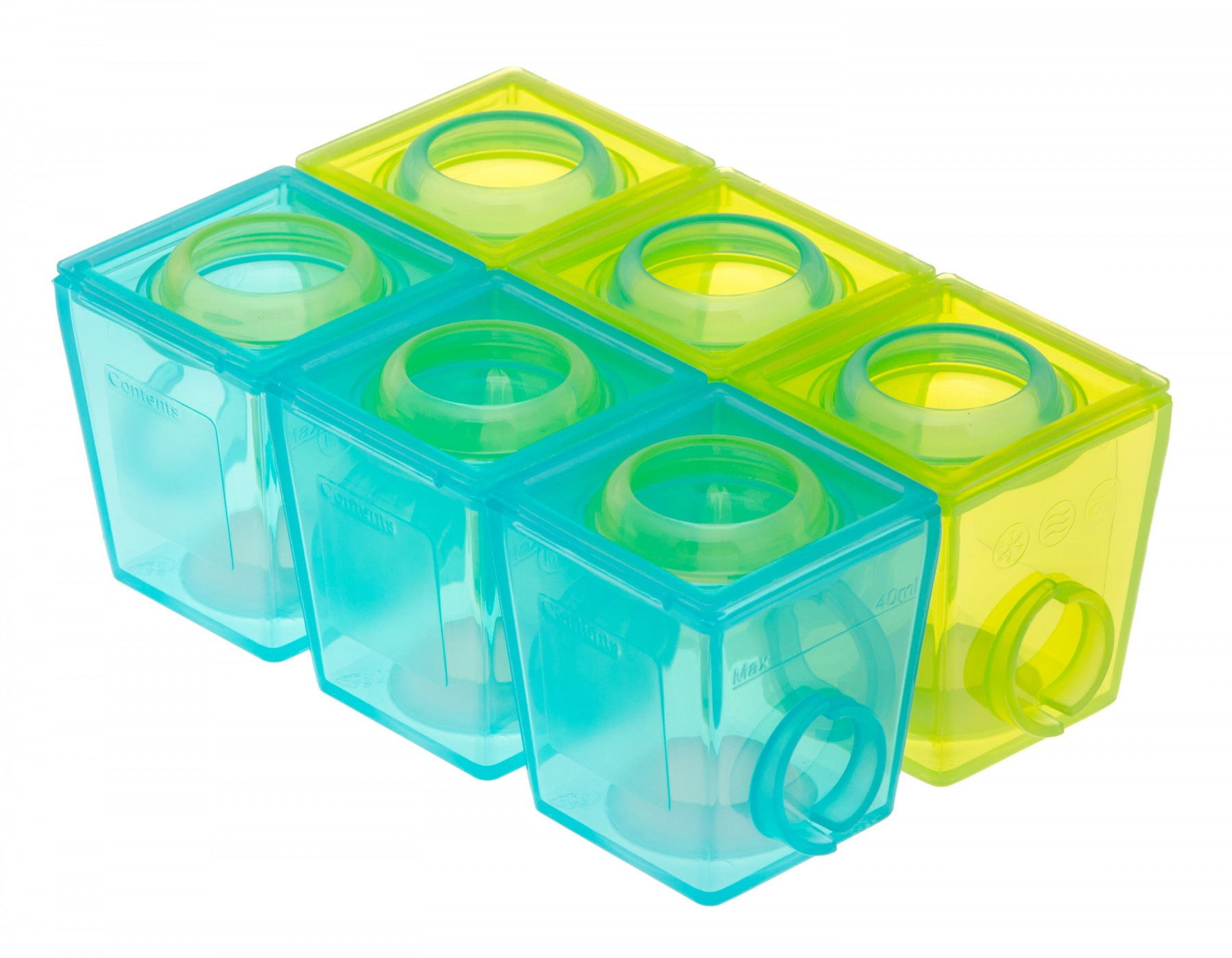 Brother Max – 1st Stage Weaning Pots – Blue/Green