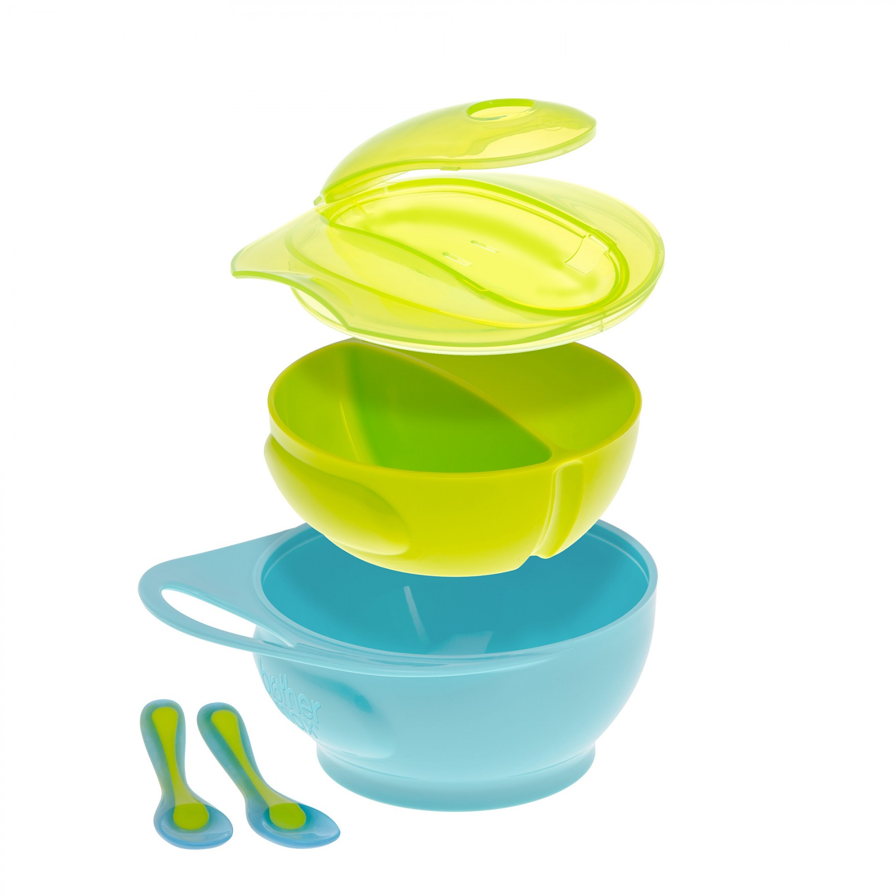Brother Max – Easy Hold Weaning Bowl Set – Blue/Green