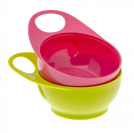 Brother Max – Easy Hold Bowls – Pink/Green