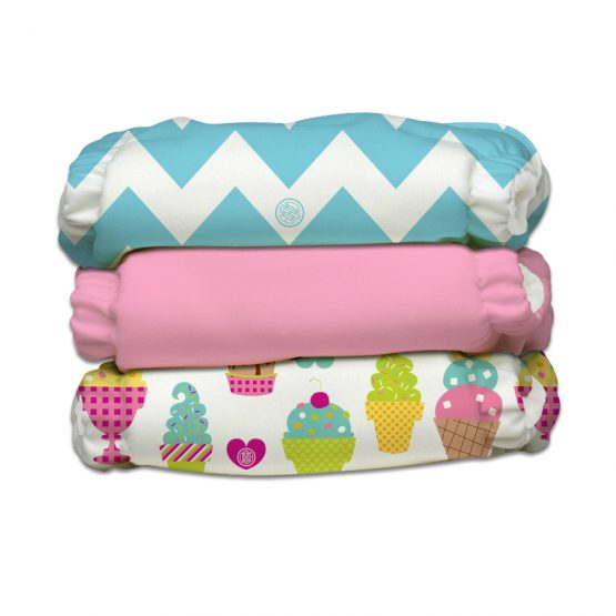 Charlie Banana – 3 Diapers 6 Inserts Cotton Candy One Size Hybrid AIO