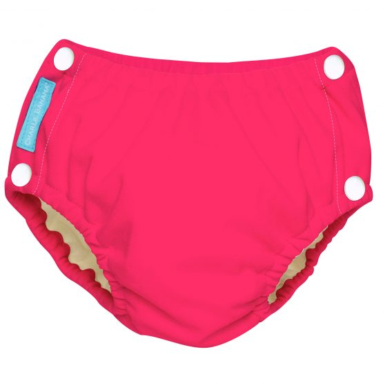 Charlie Banana – Reusable Easy Snaps Swim Diaper Hot Pink (L)