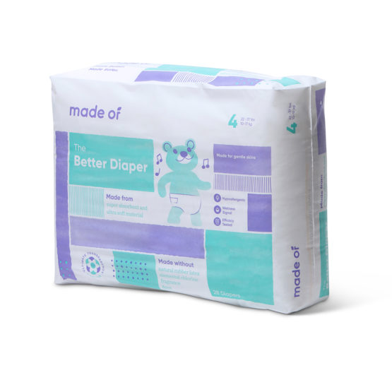 Made Of – The Better Baby Diaper – SIZE 4