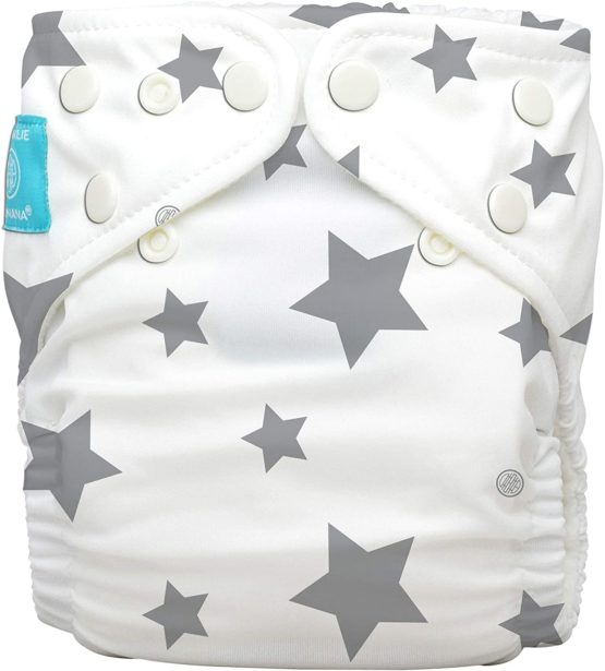 Charlie Banana Diaper 2 Inserts Organic Twinkle Little Star Grey One Size