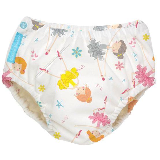 Charlie Banana-2-IN-1 Diaper and Training Pants Diva Ballerina Large
