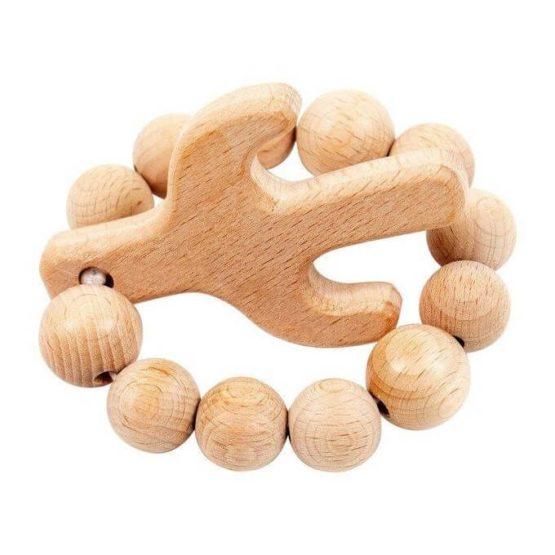 Bebe Au Lait Cactus Wooden Bebe Teether
