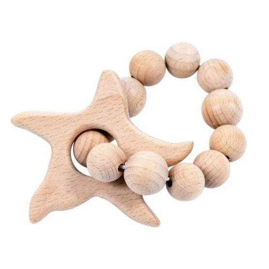 Bebe Au Lait Star Fish Wooden Bebe Teether